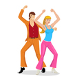 Disco Dancing Couples vector image