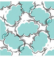 black and blue seamless pattern with clouds vector image