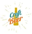 Craft beer golden label vector image