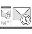 Email check line icon vector image