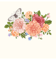 Floral background Card with a bouquet vector image