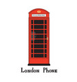 london city sign phone famous red telephone box vector image
