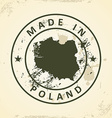 Stamp with map of Poland vector image