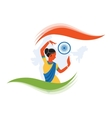 Indian classical dancer creating vector image