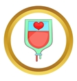 Donate blood concept icon vector image vector image