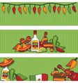 mexican banners vector image vector image