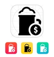 Mug of beer with dollar icon vector image