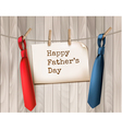 Happy Fathers Day Background With A Two Ties On vector image