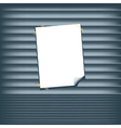 Blank Poster on a Roll Up Shutter vector image vector image