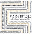 set of 8 hand drawn Chain pattern brushes vector image