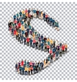 group people shape letter S Transparency vector image