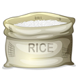 A sack of white rice vector image