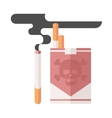 concept of nicotine consumption vector image