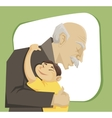 grandfather and grandchild vector image