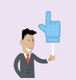 Man is holding a thumbs up vector image