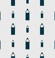Plastic bottle with drink icon sign Seamless vector image