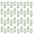 Watercolor pattern with olive branches vector image