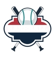 baseball emblem icon vector image