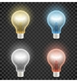 Set of colored transparent realistic glass light vector image