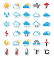 Weather icons set - labels vector image vector image
