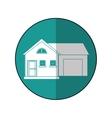 house suburban home garage shadow vector image