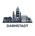 Darmstadt Skyline Emblem vector image