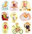 Monkey people vector image