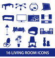 living room icon set eps10 vector image vector image