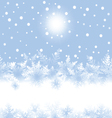 christmas snowflakes and sun on blue background vector image vector image