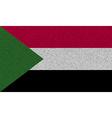 Flags Sudan on denim texture vector image
