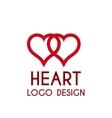 heart logo 3d vector image