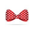 bow dotted in red vector image