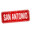 San Antonio red stamp isolated on white background vector image