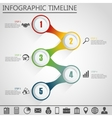 Business concept with five steps vector image