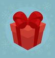 christmas gift flat vector image