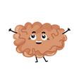 human brain cute cartoon character vector image