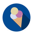 ice cream icon on a blue background vector image