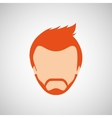 male hairstyle design vector image