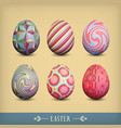 set of vintage easter eggs vector image
