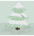 Christmas tree in retro colors vector image vector image