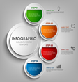 Info graphic with round colored labels design vector image