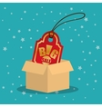 cardboard box tag price big offer sale with star vector image