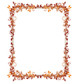 Leaves frame autumn vector image vector image