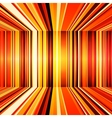 Abstract red orange and yellow retro stripes vector image