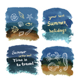 Watercolor grunge background vector image