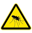 sign with black silhouette of mosquito vector image vector image