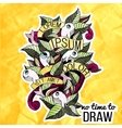 Detailed doodles on paper textureColorful design vector image