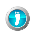 Foot button vector image