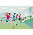 boys and girls running vector image vector image