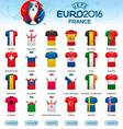 Different flag football jerseys Football vector image